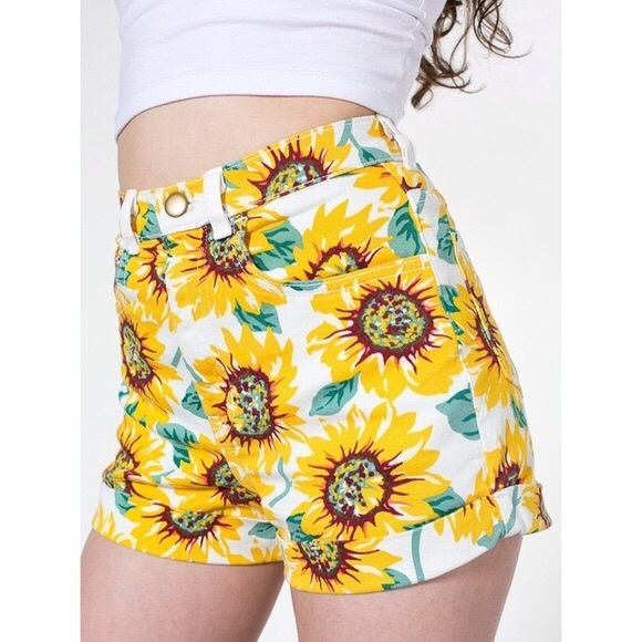 American Apparel Pants - American Apparel Sunflower High Waisted Shorts